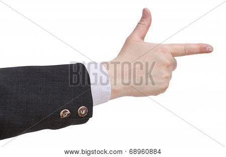 Handgun By Fingers - Hand Gesture