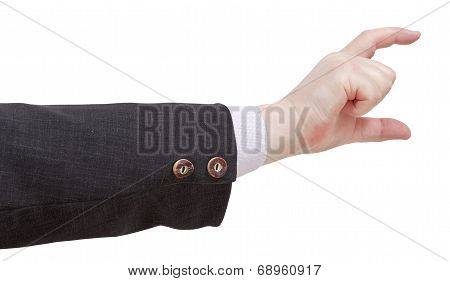 Showing Of Medium Size By Fingers - Hand Gesture