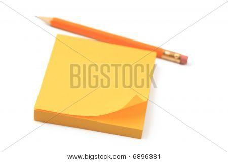 Gelbe Briefpapier