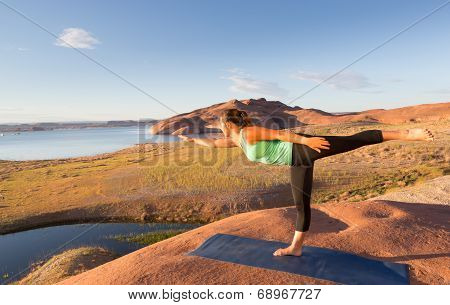 Stretching In The Desert Sun