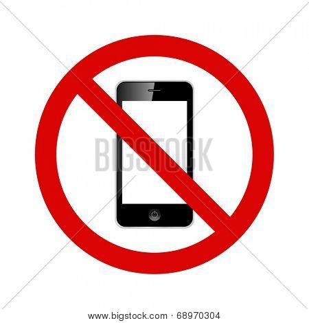 No cell phones allowed illustration