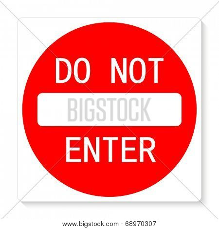 Do not enter vector illustration sign