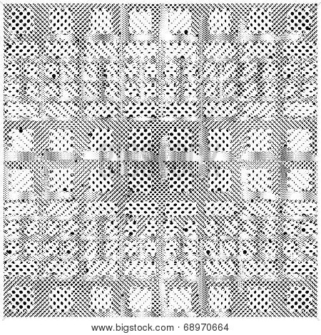 Seamless Patterned Frame Of The Points