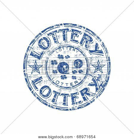 Lottery grunge rubber stamp