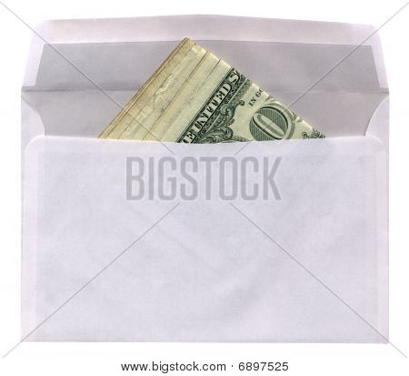 Envelope With American Dollars Isolated