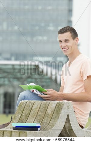 Young Student Learning Outdoor