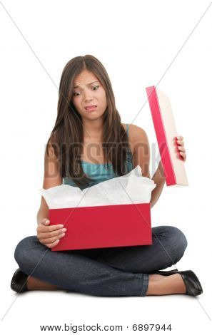 Woman Disappointed Over Gift