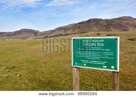 Calgary Bay Signpost