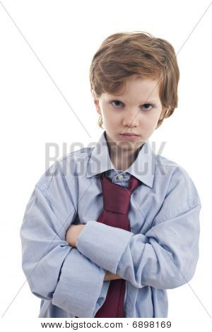 Little Businessman Sad