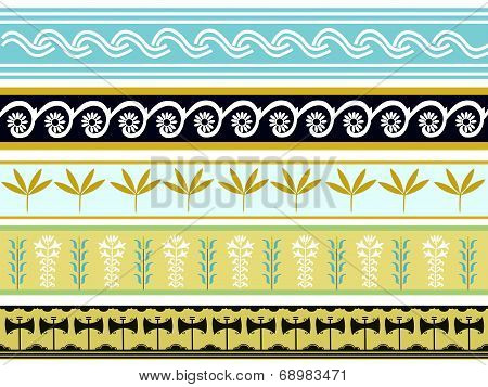 A set of Minoan pattern designs