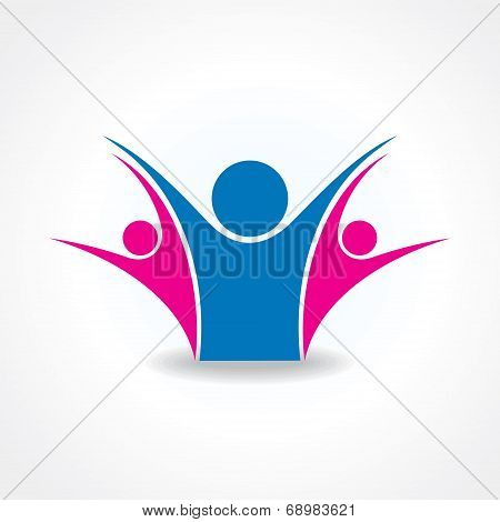 celebrate or unity icon concept stock vector
