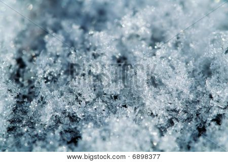 Snowflake Macro Background
