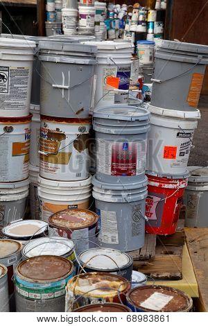Paint dumpster