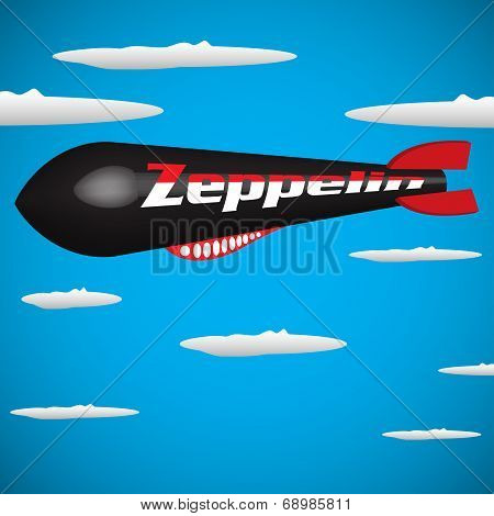 Zeppelin among the clouds