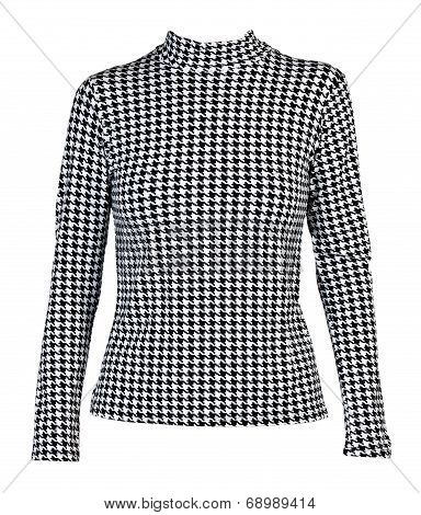 Light Blouse With A Black Pattern