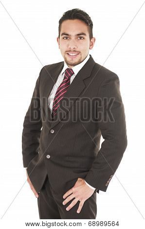 handsome young man in formal clothes
