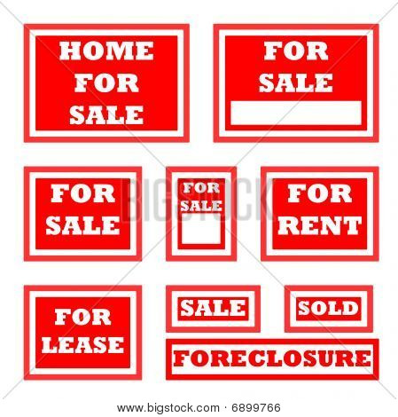 Real Estate For Sale Signs