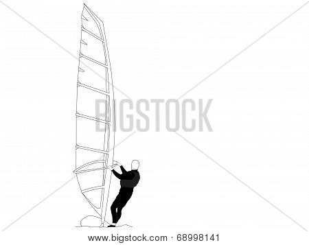 Beach Collection Wind Surfer