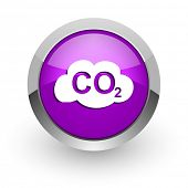 image of carbon-dioxide  - carbon dioxide pink glossy web icon - JPG