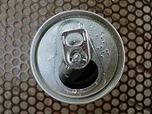 foto of cold drink  - top view of open can - JPG