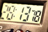 stock photo of tick tock  - Close up of a Modern Digital timer clock - JPG