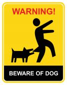 Warning - beware of dog