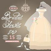 image of bridal veil  - Bridal shower card - JPG