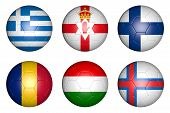 pic of faroe islands  - balls with flags of countries - JPG