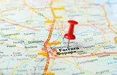 foto of ferrara  - Close up of Ferrara Italy map with red pin - Travel concept