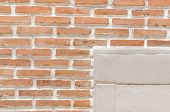 picture of arriere-plan  - A brick wall background and texture  - JPG