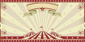 picture of school carnival  - circus red invitation - JPG