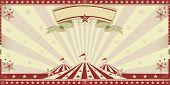 image of circus tent  - circus red invitation - JPG