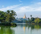 foto of yangon  - Travel Myanmar tourism background  - JPG