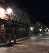 picture of geisha  - Higashiyama geisha district by night - JPG