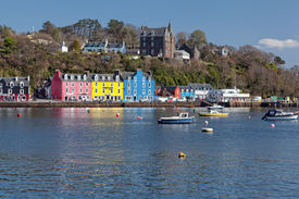 stock photo of bute  - Tobermory is the capital of and the only burgh on the Isle of Mull in the Scottish Inner Hebrides - JPG