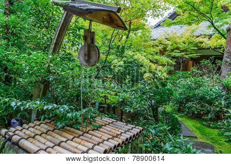 Japanese Pulley at Koto-in Temple in Kyoto Japan