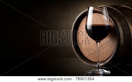 Wine on brown