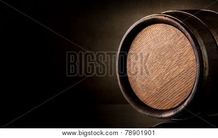 Barrel on brown