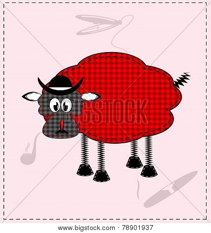 image of a red-black lamb