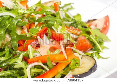 salad of steamed zucchini