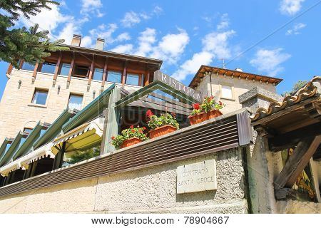 Modern Building Restaurants In San Marino. The Republic Of San