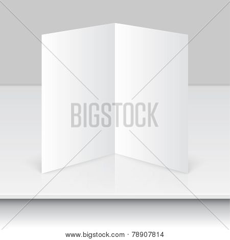 Blank empty magazine template