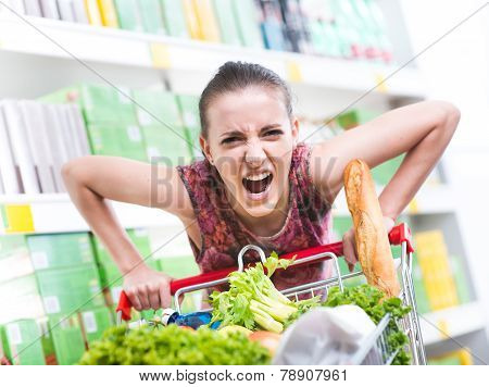 Angry Customer At Supermarket