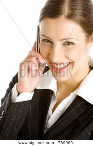 portrait of telephoning businesswoman