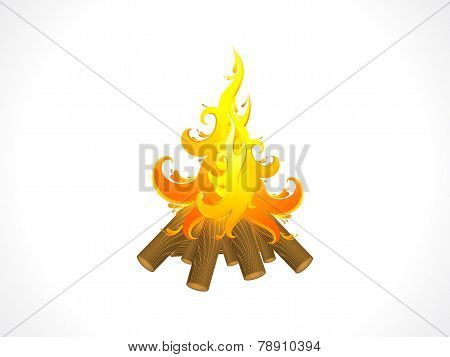 Abstract Artistic Detailed Burning Wood Flame Background