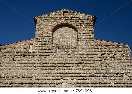 Famous Sagrestia Vecchia In Florence. Horizontally.