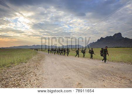 Lopburi Thailand-dec25: Thai Army