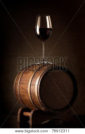 Wine on barrel