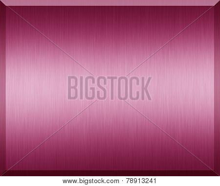 Pink Metallic Plate
