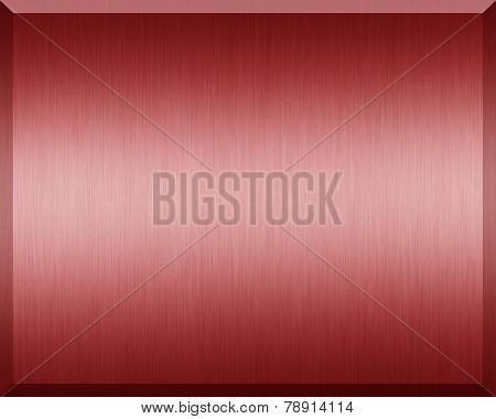 Red Metallic Plate